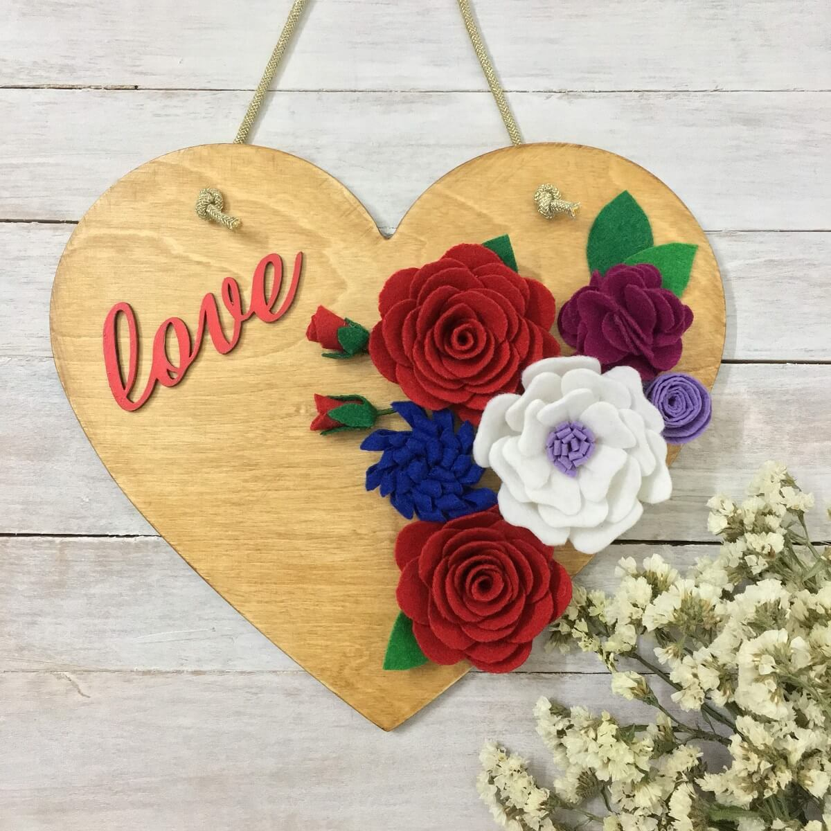 Heart Shaped Love Wooden Wall Hanging Wall Decor For Living Room Wa Qtrove
