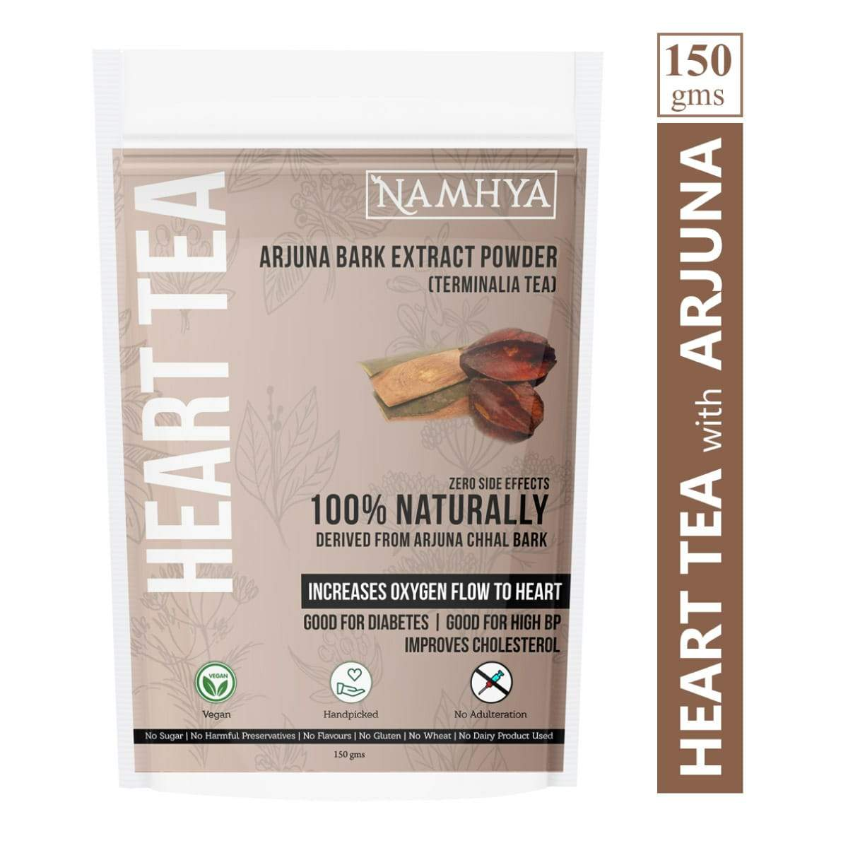 Heart Tea (Arjuna Bark Extract Powder) - Pack of 2, 2 x 150 g