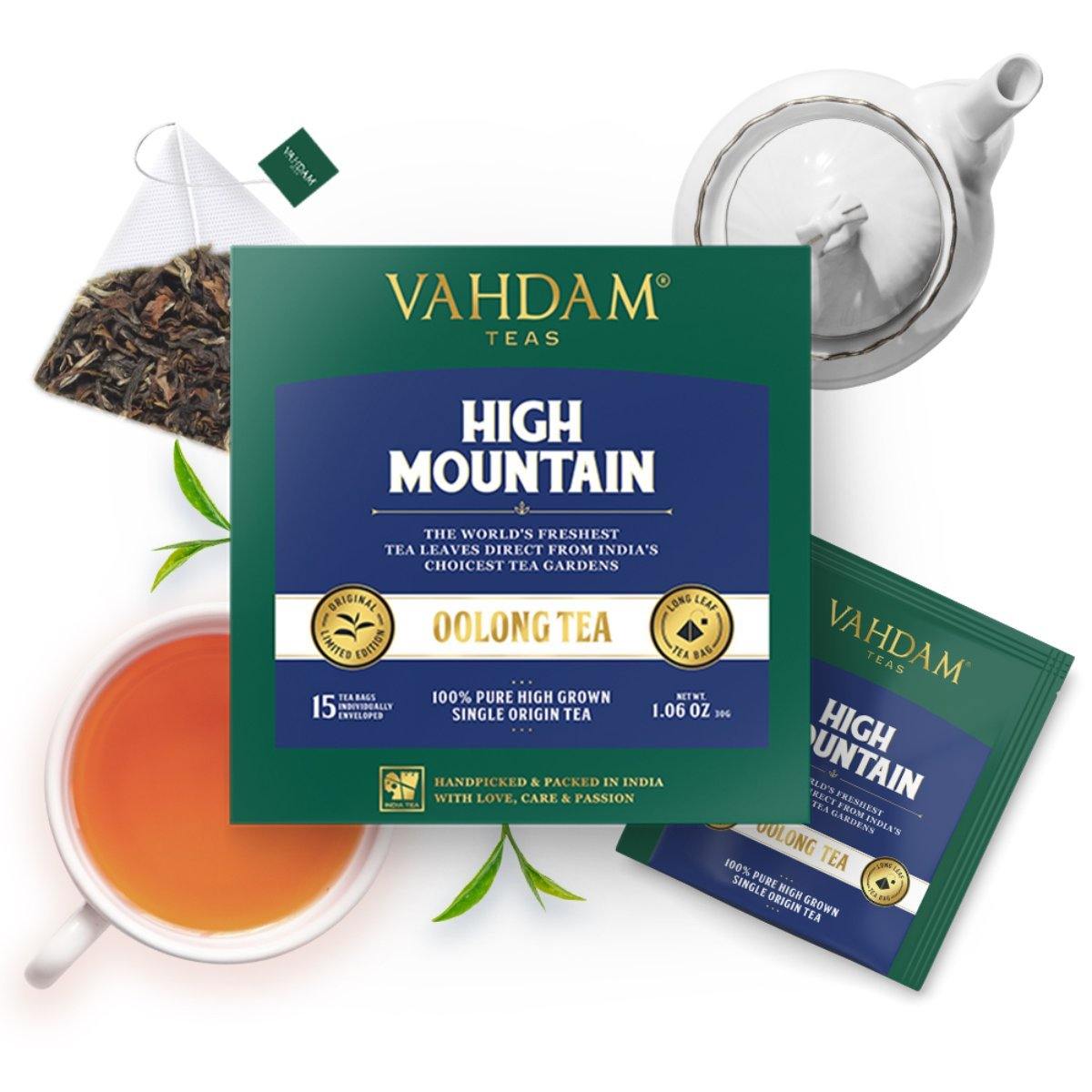 High Mountain Oolong Tea (15 Pyramid Tea Bags)