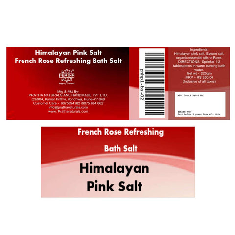 French Rose Refreshing bath salt (Himalayan Pink Salt)