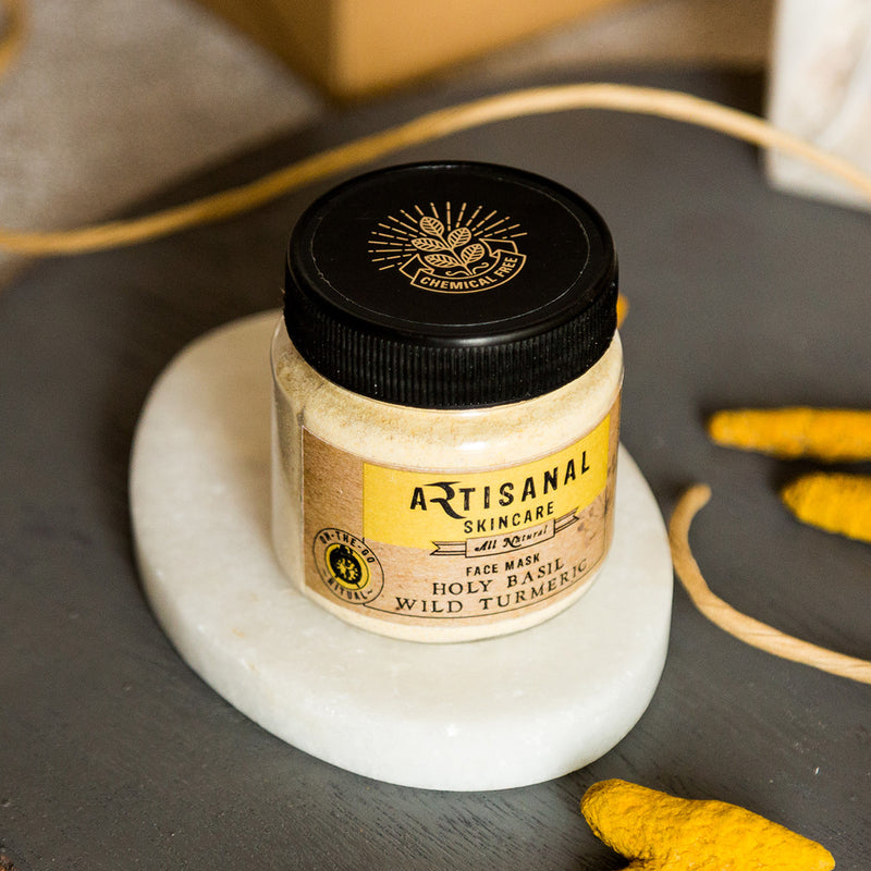 Chemical Free Holy Basil Wild Turmeric Face Mask