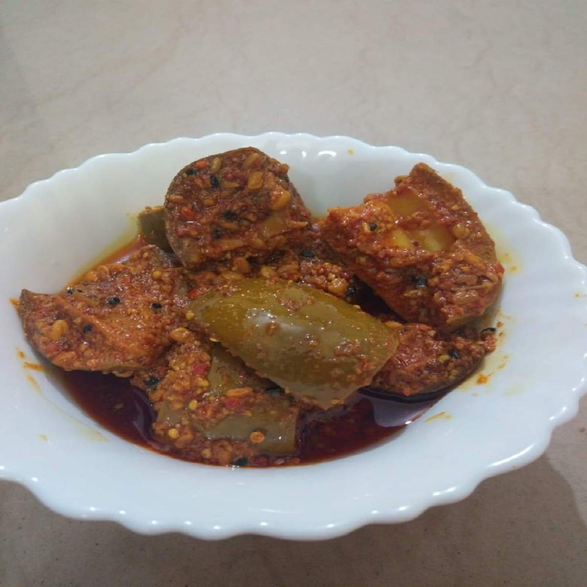 Homemade Dried Mango Pickle