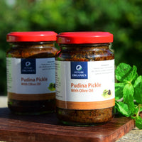 Homemade Pudina Pickle With Olive Oil (Pack of 2)
