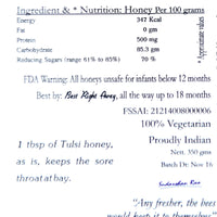 Unprocessed Infused Tulsi Honey