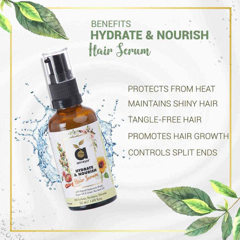 Hair Serum (Hydrate & Nourish) - For Dry, Damaged, Frizzy Hair