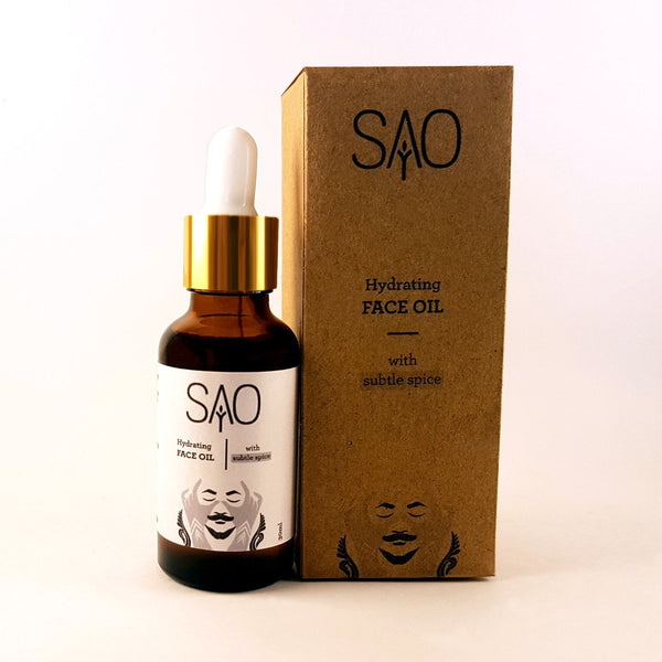Hydrating Face Oil (Subtle Spice) (For Men) at Qtrove