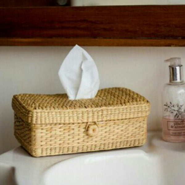 Handcrafted Kauna Reed Tissue Box at Qtrove
