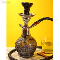 Handcrafted Thunder Black Bambino Hookah (12 Inch)