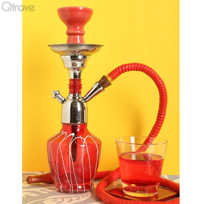 Handcrafted Sparking Red Hookah (12 Inch)