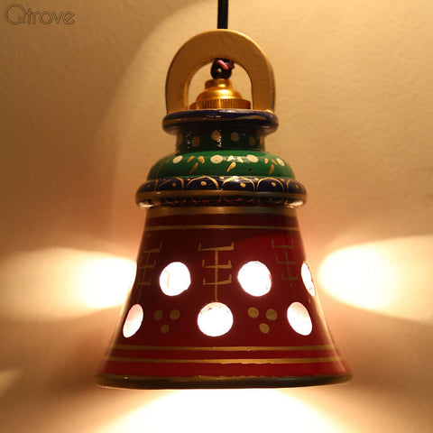 Hand Painted Wooden Classy Hanging Lamp