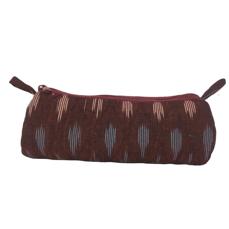 Ikat Round Shape Pencil Pouch