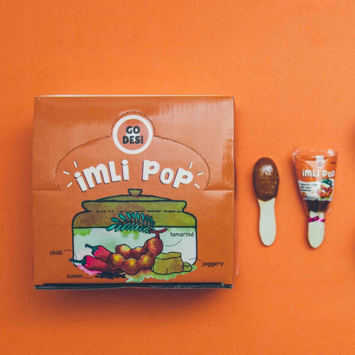 Imli Pop-100% Natural Tamarind Jaggery Lollipop (40 Pieces)