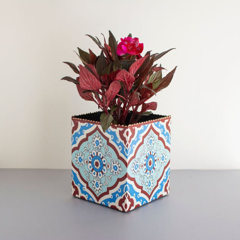 Planter (Metal) - Inaya Handpainted