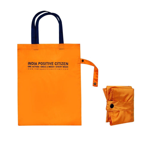 Unisex Shopping Tote (Pack Of  2) (Orange Colour)
