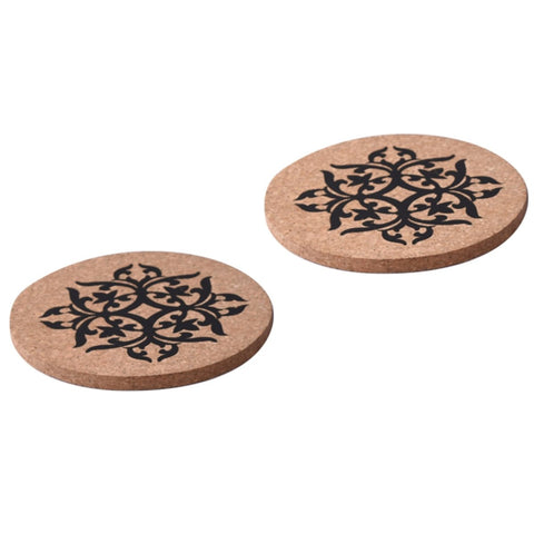 Trivet (Cork) - Indian Design, Set of 2
