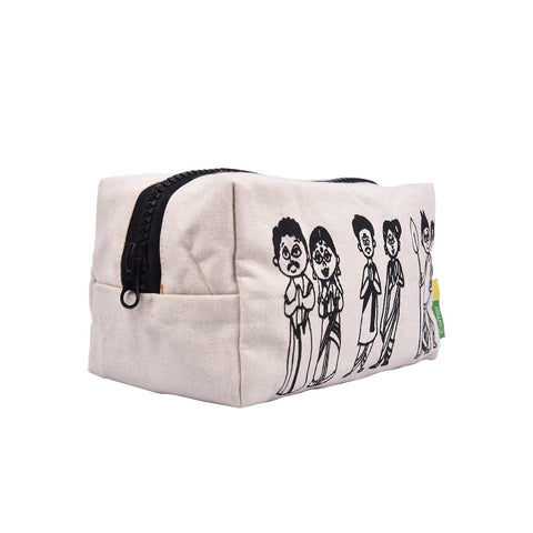 Indian Couples Canvas Pouch