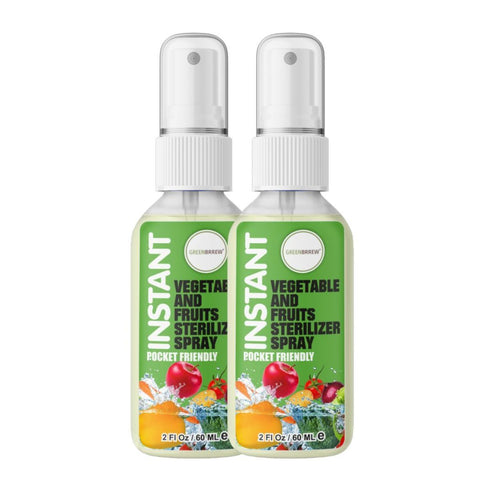 Instant Vegetable And Fruits Sterilizer Spray  (Pack of 2)