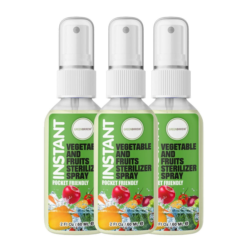 Instant Vegetable And Fruits Sterilizer Spray (Pack of 3)