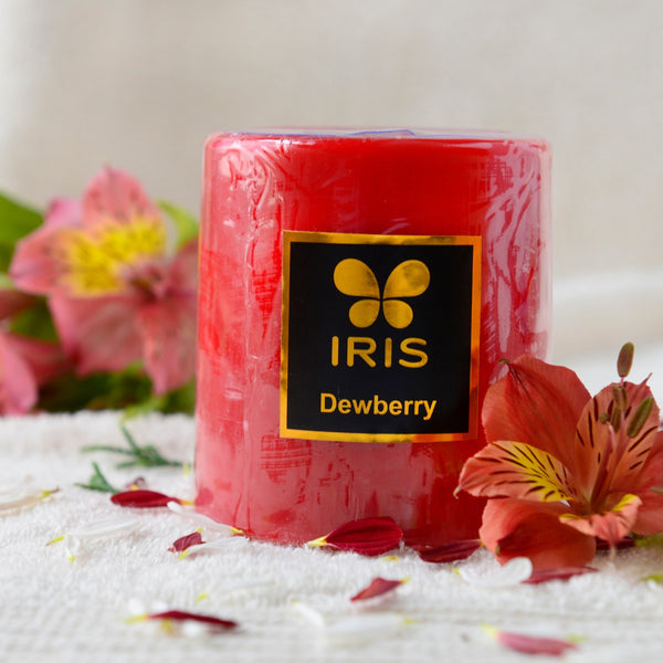 Dewberry Pillar Candle at Qtrove