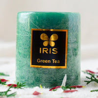 Green Tea Pillar Candle