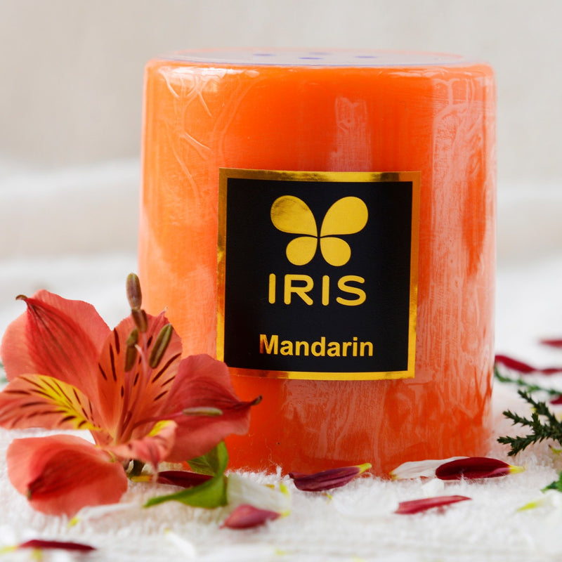 Mandarin Pillar Candle