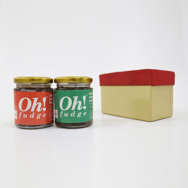 Festive Special Fudge Gift Pack (Mint and Hazelnut Combo) (Set of 2) at Qtrove
