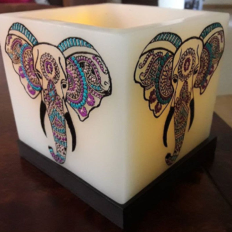 Jaipur Elephant Hollow Square Candle Holders
