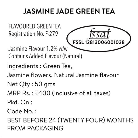 Jasmine Jade Green Tea (Natural & Pure Whole Leaf Tea)