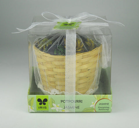 IRIS Potpourri Cane Basket with Jasmine Fragrance (50 g)