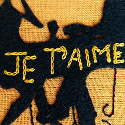 Hand Embroidery Je t'aime Wall Decor