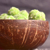 Eco Friendly Jumbo Coconut Bowl (Leaf Design)(Made From Original Coconut Shells)