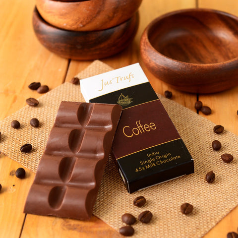 Artisanal Couverture Coffee Chocolate Bar (Pack of 2)