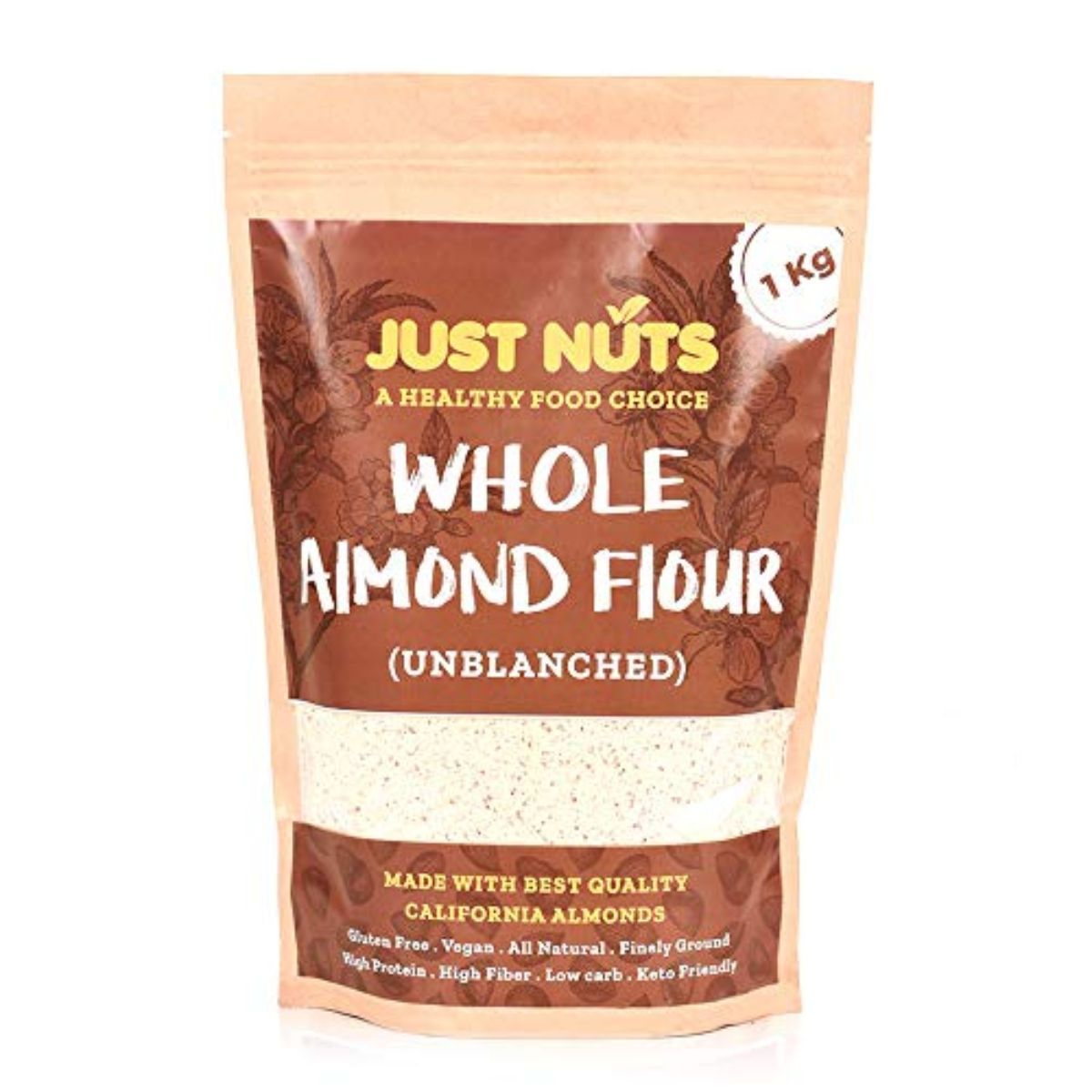 Whole Almond Flour with Skin (Gluten Free, Vegan, Low Card & Unblanched)