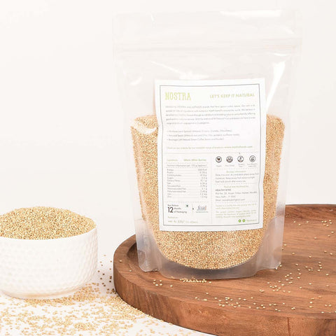 Whole White Quinoa [Grown In India, Source Of Complete Protein]
