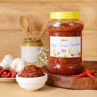 Homemade Red Chilli Garlic Chutney