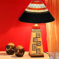 Handpainted Wooden Lamp