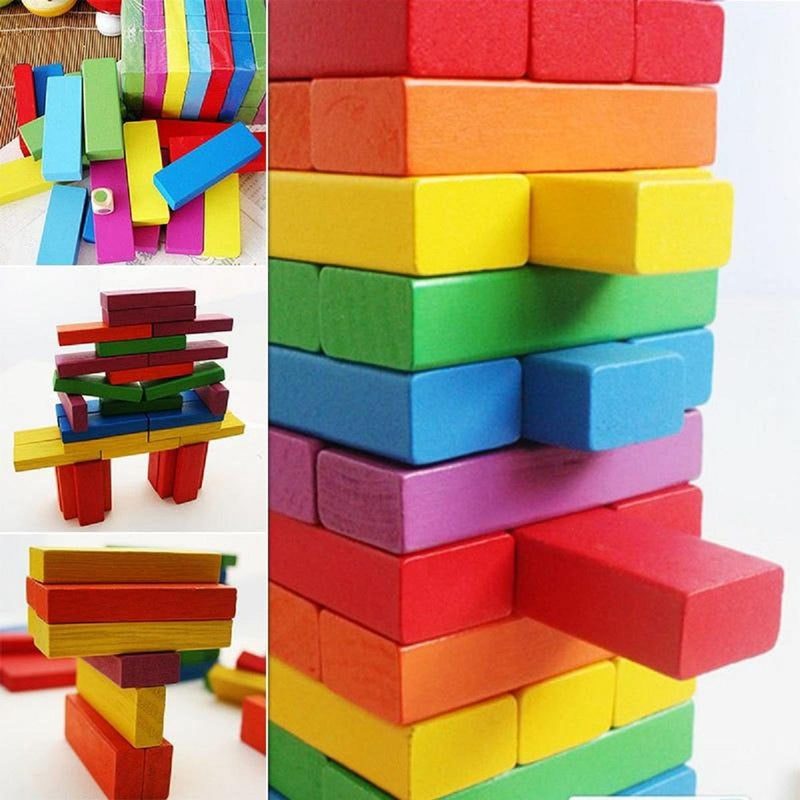 Kalaplanet Wooden Building Blocks Stacked Layers