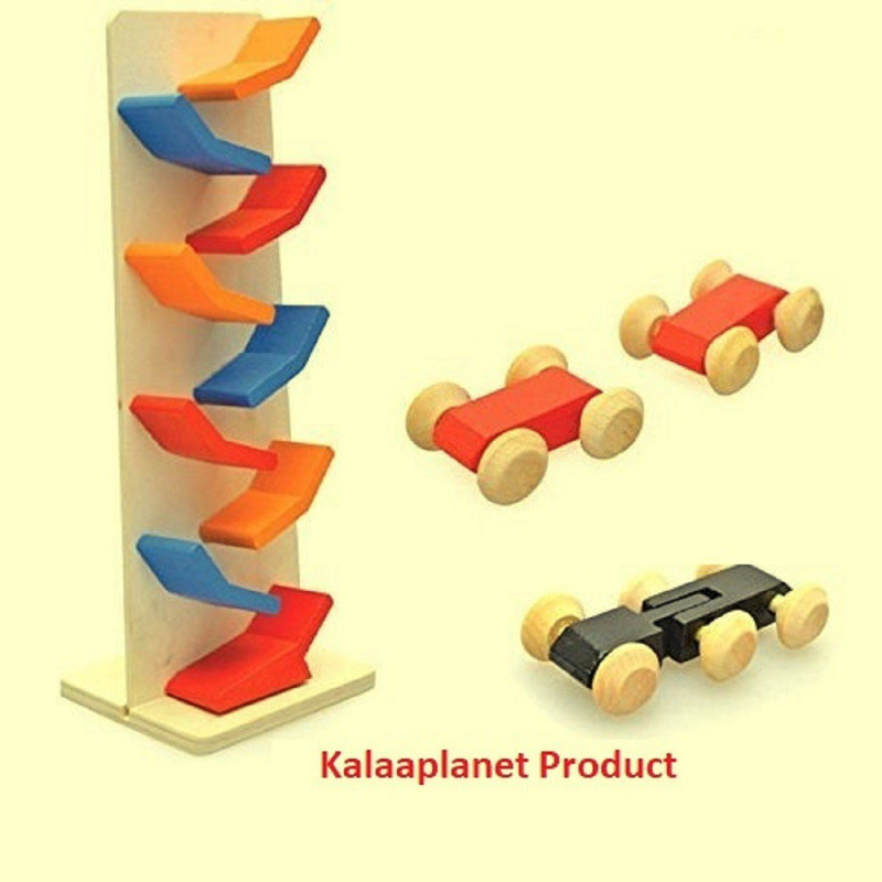 Kalaplanet Wooden Small Slippery Cars