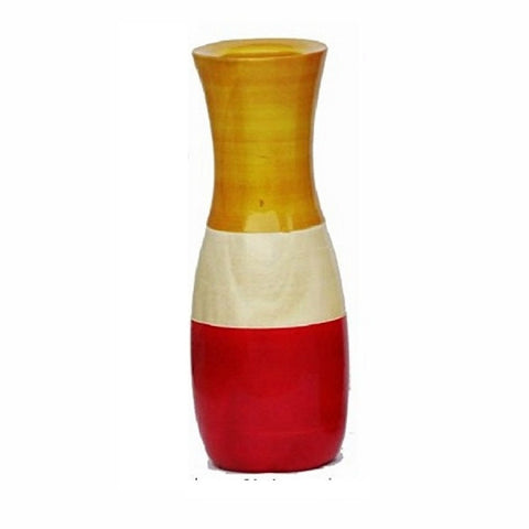 Kalaplanet Wooden Vase - 8 Inches