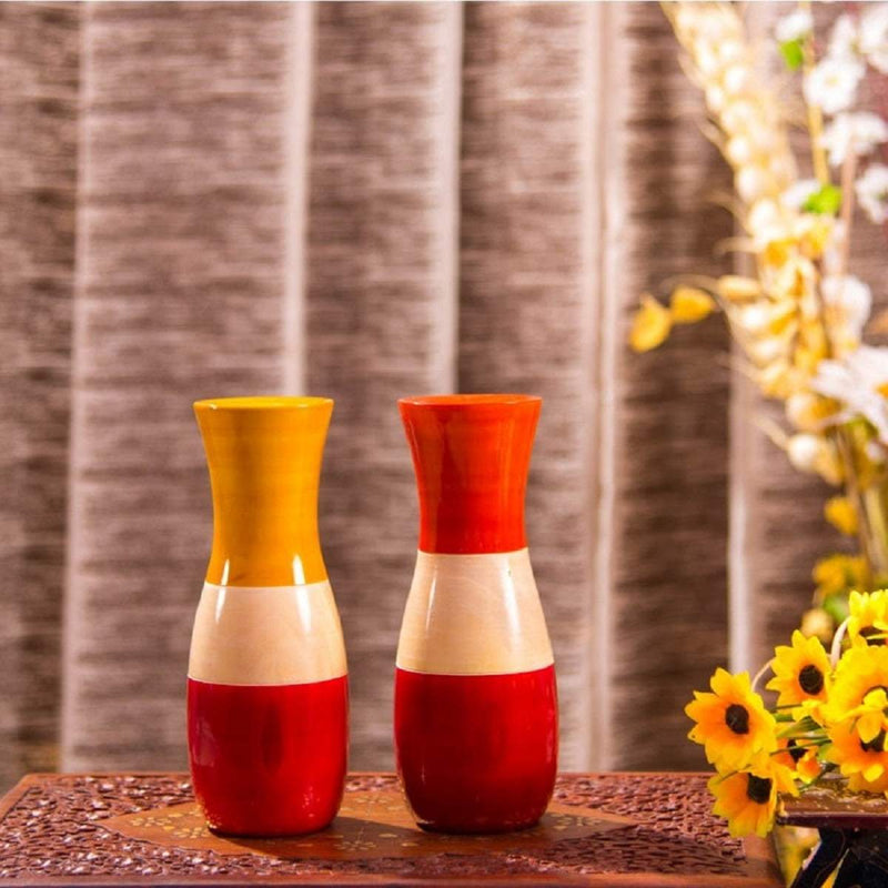 Kalaplanet Wooden Vase - Set of 2