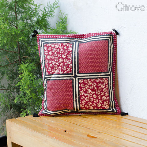 Traditional Gold Print Cotton Cushion Cover (Set of 5)