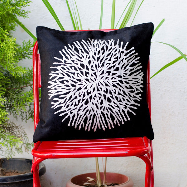 Black Silk Cushion Cover at Qtrove