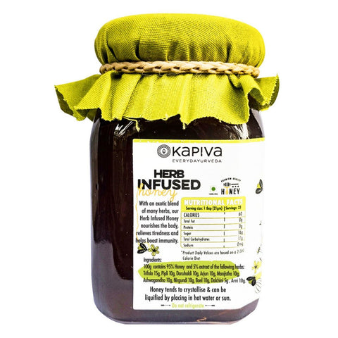 Herb Infused Honey (Loaded with Pure Herbs, No Artificial Chemicals and Flavours)