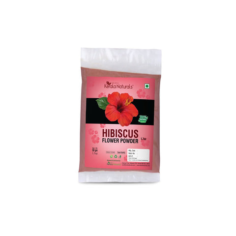 Hibiscus Flower Powder  (Pack of 3-50 gm each)