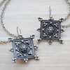 Kuchi Vintage  Antique Silver Earrings with Ear Chain