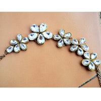 Kundan Flower Hair chain