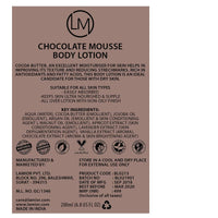Chocolate Mousse Body Lotion (With Cocoa Butter)