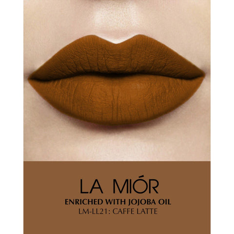 Caffe Latte Natural Matte Creme Liquid Lipstick - Greenish Brown (Free of Parabens & Sulphates)