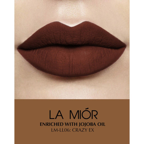 Crazy Ex Natural Matte Creme Liquid Lipstick - Chocolate Brown(Free of Parabens & Sulphates)