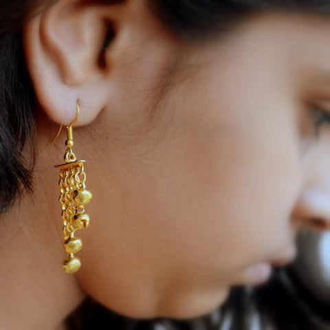 Earring (Desi Chandelier) - Layered Ethnic